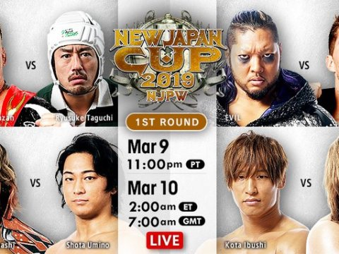 New Japan Cup Results (3/10/19)