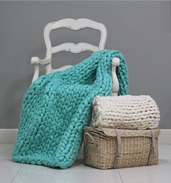 Soft Knitted Blanket