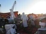 La cubierta del ferry Egipto-Sudán