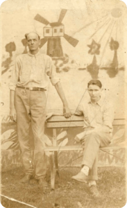 Uncle Riley (left) with inmate.