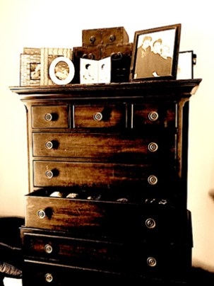 The author's mother's chest of drawers