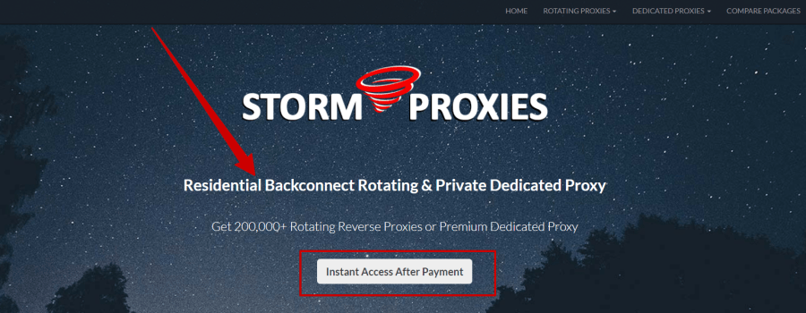 Buy Reverse Backconnect and Dedicated Proxy Storm Proxies review