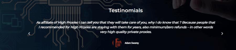 high proxies testimonials