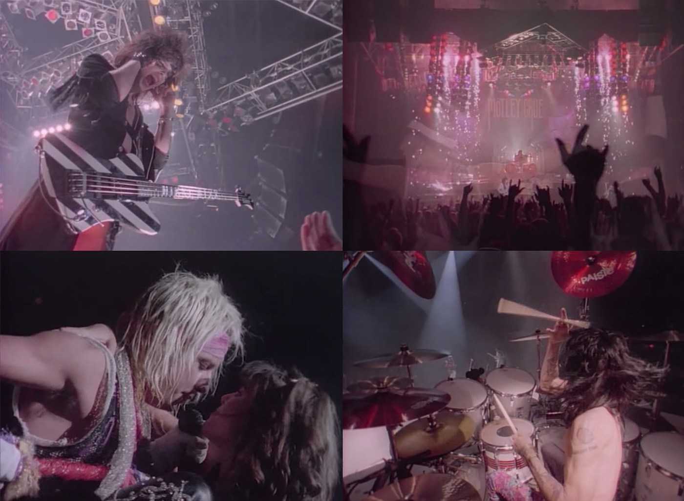 "Video for ""Home Sweet Home"" by Mötley Crüe, 1985,directed by Wayne Isham."