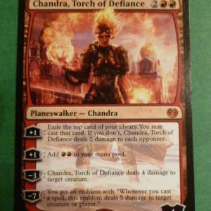 Chandra, Torch of Defiance Holo Holo black core