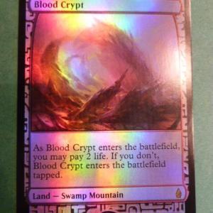 Blood crypt  Zendikar Expeditions  Foil black core
