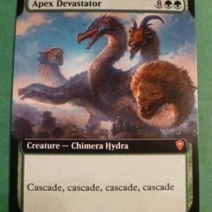 Apex Devastator Extend Art Holo black core