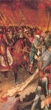 Bernat Martorell i taller, sant Jordi arrossegat pel cavall, v.1434-1436, Musée du Louvre, París