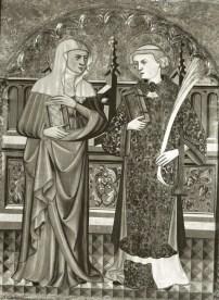 Pere Vall, compartiment d'una predel·la, santa Anna i sant Llorenç, primer quart s. XV, col·lecció privada USA