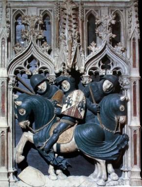 Pere Oller, relleu amb l'escena del córrer les Armes, c.1420-25, provinent dels sepulcres reials de Poblet, París, Musée du Louvre