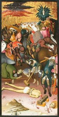 Bernat Martorell i taller, decapitació de sant Jordi, v.1434-1436, Musée du Louvre, París