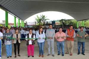 Inauguran domo en Bachilleres Huatusco