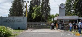 El frente de la planta ArZinc S.A.
