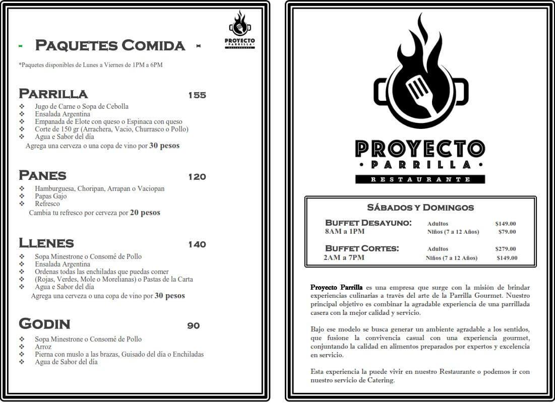 Menú Proyecto Parrilla Restaurante febrero 2019 6