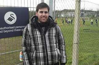 Pablo Gómez, en Swansea