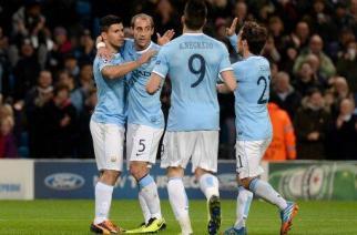 Los jugadores del City celebran el primer gol