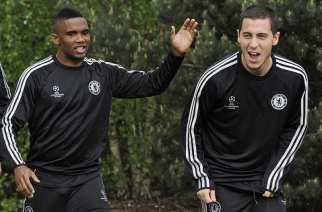 Eto'o y Hazard, durante el entrenamiento del martes | EFE