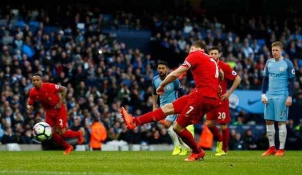 Manchester City - Liverpool (Milner)