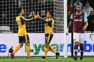 Arsenal y West Ham se asoman al precipicio