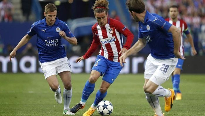 griezmann atletico madrid leicester city
