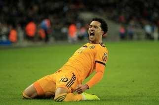 Los Wolves prenden Wembley y paran al Tottenham