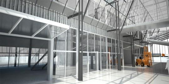 Imagen de obra. Vista interior del edificio.