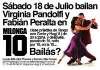 Virginia Pandolfi y Fabián Peralta