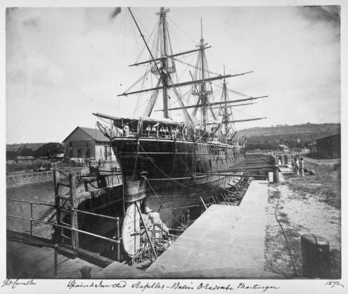 Fragata blindada española Arapiles en Martinica (1872)