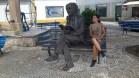 Con Saramago, en su pueblo natal