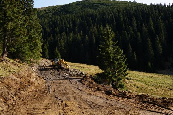 На Тячівщині будують лісові дороги (Фото, відео) - Про Захід