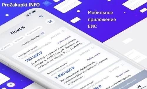 Мобильное приложение ЕИС