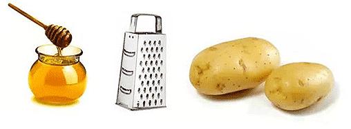 тёртый картофель и мёд при остеохондрозе