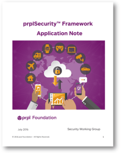Cover Application Note prpl Security Framework