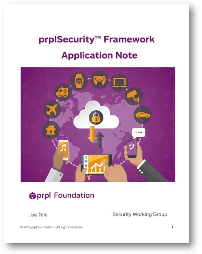 Cover Application Note prpl Security Framework