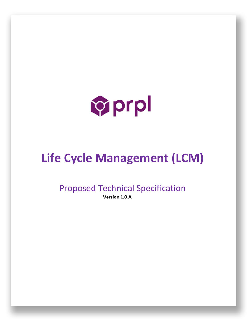 Life Cycle Management (LCM)