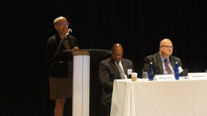 Panel: Forming Regional Partnerships to Promote Mobility. From left to right: Susan Rollins (Housing Authority of St. Louis County), Andrew Lofton (Seattle Housing Authority), and Ken Barbeau (Milwaukee Housing Authority).