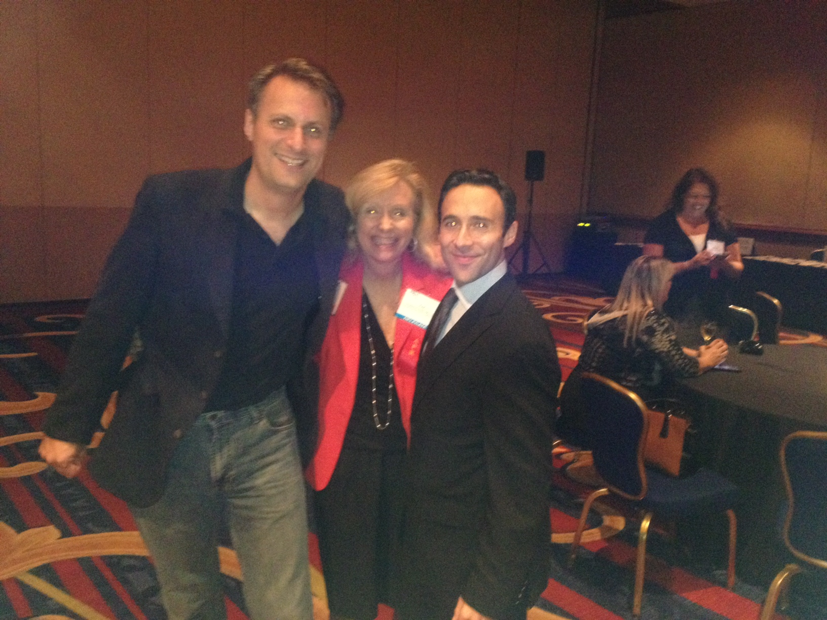Liz Smith, president of PRSA Central PA Chapter and chair-elect of the Mid-Atlantic District, with Thomas Becher Mid-Atlantic district chair (left) and Joe Cohen, chair of PRSA National