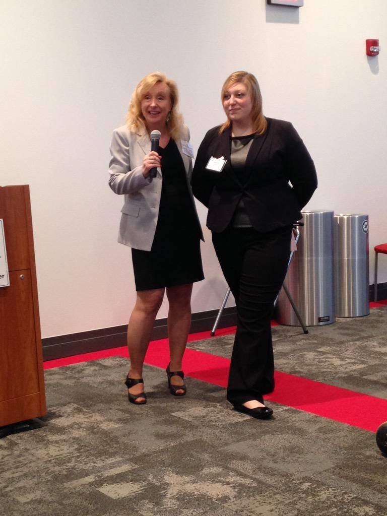 Liz Smith, President of PRSA Central PA Chapter and and Chair of PRSA, Mid-Atlantic District with Alexa Cohen, President of PRSSA York College Chapter