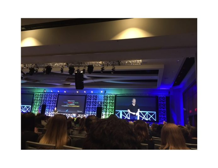 """Award-winining filmmaker and keynote speaker Morgan Spurlock featured highlights from his documentary, """"Super Size Me."""""""
