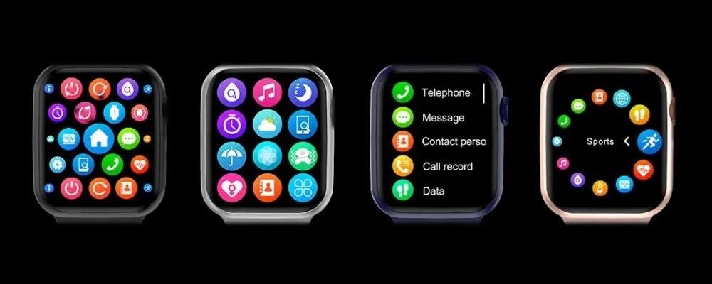 El Smartwatch DT100 tiene 4 menús