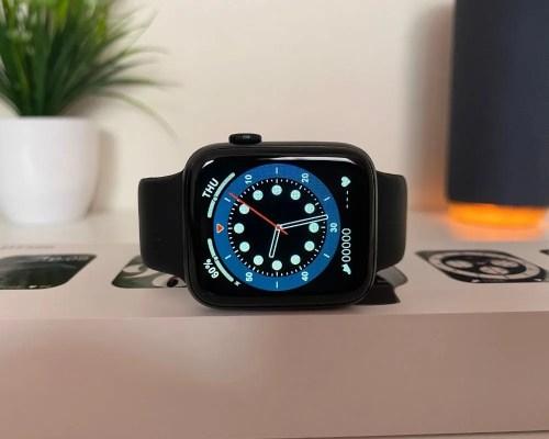 Smartwatch DT100 Negro con fondo Azul