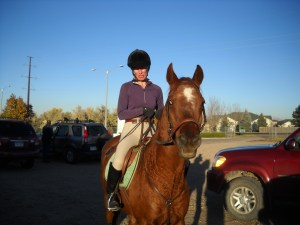 Billy with Lisa Wolfe - CSU Fall Schooling Show