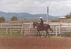 Jarrod on Billy - Rockie Mountain Saddle Club - 2003