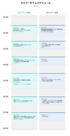 セミナータイムスケジュール 福岡開催