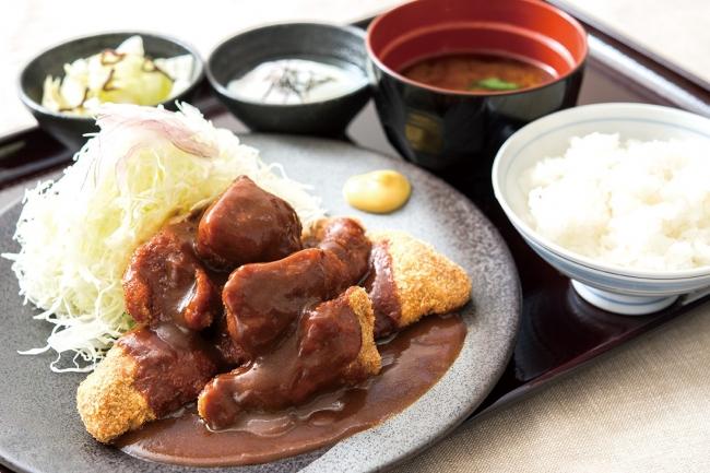 「一口デミグラス牛カツ膳」:1080円(+税)