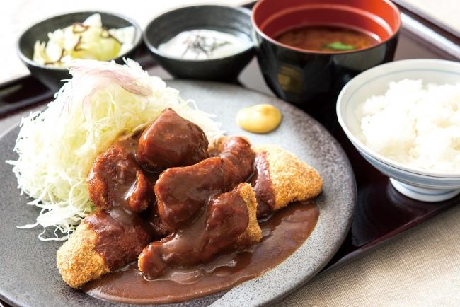ひとくちデミグラス牛カツ膳:852円(+税)