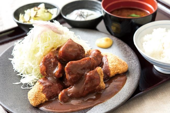 ひとくちデミグラス牛カツ膳: 1,176円(+税)
