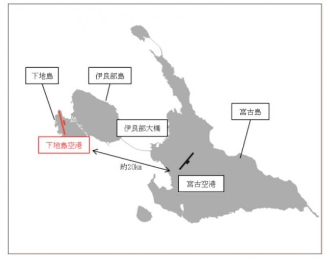 下地島空港位置図