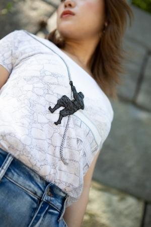 高松城忍者Tシャツと標高Δ86.0 難易度Cの有田奈央さん