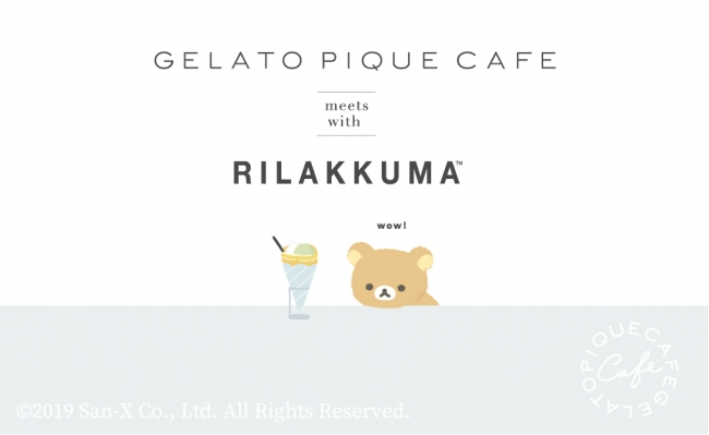 gelato pique cafe meets with RiLAKKUMA